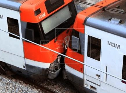 Accidente en tren con indemnización
